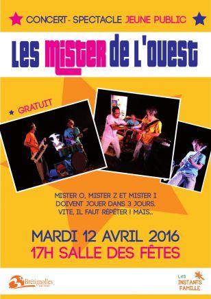 Les Mister de l'Ouest - Concert-spectacle jeune public