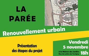 Renouvellement urbain de la Parée : concertation
