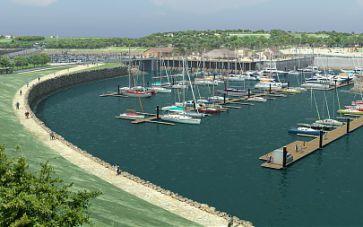 Travaux préparatoires du port de plaisance