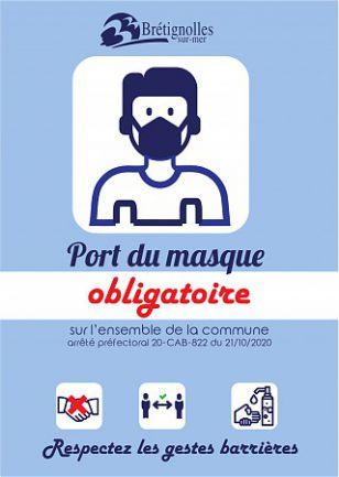 Port du masque obligatoire dans les espaces publics