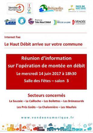 HAUT DEBIT - Réunion d'information