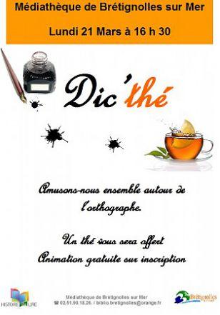 Dic'thé - Animation médiathèque